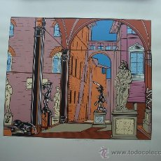 """Arte: NICOLAS GLESS, 1975, SERIGRAFÍA EN COLOR """"LA LOGGIA DE LA SEÑORIA"""". Lote 36093834"""