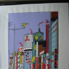 """Art: NICOLAS GLESS, 1975, SERIGRAFÍA EN COLOR """"GINZA"""". Lote 36094014"""