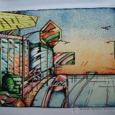 """Arte: NICOLAS GLESS, 1974, SERIGRAFÍA EN COLOR """"AVENIDA"""". Lote 36095095"""