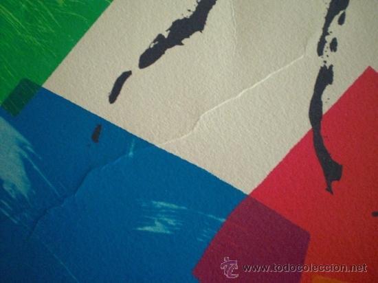 Arte: Artista desconocido serigrafía colores firmada lápiz y numerada - Foto 3 - 38178073