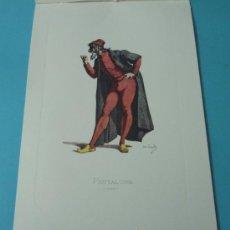 Arte: PANTALONE - 1550. PERSONAJE DE LA COMEDIA DEL ARTE. FORMATO 22 X 32 CM. Lote 38716885