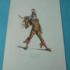 Arte: IL CAPITAN SPAVENTO - 1577. PERSONAJE DE LA COMEDIA DEL ARTE. FORMATO 22 X 32 CM. Lote 38716889