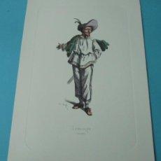 Arte: TABARIN - 1618. PERSONAJE DE LA COMEDIA DEL ARTE. FORMATO 22 X 32 CM. Lote 38716901