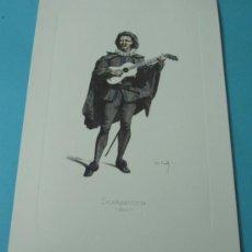 Arte: SCARAMUCCIA - 1645. PERSONAJE DE LA COMEDIA DEL ARTE. FORMATO 22 X 32 CM. Lote 38716930