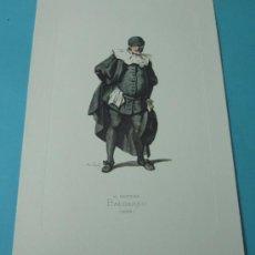 Arte: IL DOTTORE BALOARDO - 1653. PERSONAJE DE LA COMEDIA DEL ARTE. FORMATO 22 X 32 CM. Lote 38716955