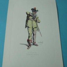 Arte: IL CAPITAN SPEZZAFER - 1668. PERSONAJE DE LA COMEDIA DEL ARTE. FORMATO 22 X 32 CM. Lote 38716959