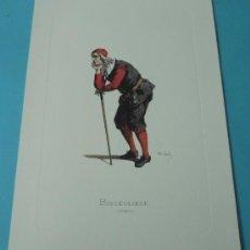 Arte: BISCEGLIESE - 1680. PERSONAJE DE LA COMEDIA DEL ARTE. FORMATO 22 X 32 CM. Lote 38716966