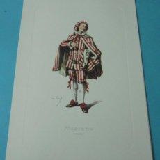 Arte: MEZZETIN - 1682. PERSONAJE DE LA COMEDIA DEL ARTE. FORMATO 22 X 32 CM. Lote 38716977