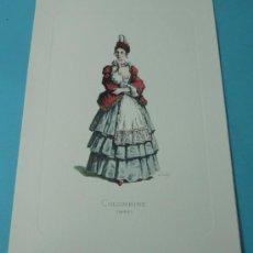 Arte: COLOMBINE - 1683. PERSONAJE DE LA COMEDIA DEL ARTE. FORMATO 22 X 32 CM. Lote 38716979
