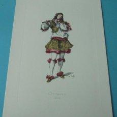 Arte: OTTAVIO - 1688. PERSONAJE DE LA COMEDIA DEL ARTE. FORMATO 22 X 32 CM. Lote 38716986
