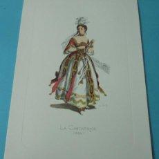Arte: LA CANTATRICE - 1694. PERSONAJE DE LA COMEDIA DEL ARTE. FORMATO 22 X 32 CM. Lote 38716987