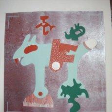 Arte: OTMAR ALT. GRABADO CON SERIGRAFIA EN RELIEVE FIRMADO A MANO POR EL ARTISTA . Lote 39373303