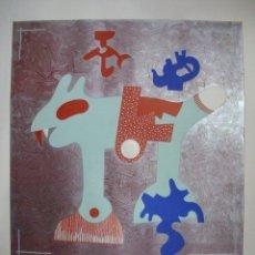 Arte: OTMAR ALT. GRABADO CON SERIGRAFIA EN RELIEVE FIRMADO A MANO POR EL ARTISTA. Lote 39373434