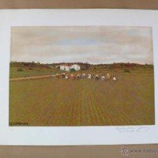 Arte: PRECIOSA SERIGRAFIA FIRMADA ORIGINAL PEDRO CAMARA 1991 AUTENTIFICADA NOTARIO. Lote 40431001