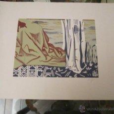 Arte: GABRIEL GOMIS - SERIGRAFIA FIRMADA Y NUMERADA 16/300 CARTULINA 70X50 MANCHA 40 X 30 CM.. Lote 41329425