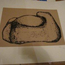 Arte: SERIGRAFIA PRUEBA DE AUTOR FIRMADA - ILEGIBLE - MEDIDA 70 X 50 CM. MANCHA 43 X 29 CM.. Lote 41596843