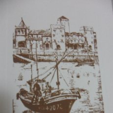 Arte: GIJON. ESTAMPA. SERIGRAFIA DE EMILIO FEITO. AÑO 2000. FIRMADA Y NUMERADA.. Lote 49172984