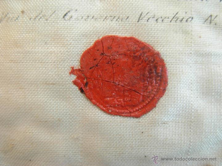 Arte: Santa Faz en tela, serigrafiada, lacrada y enmarcada del siglo XIX año 1.877 - Foto 5 - 42374192