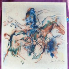 Arte: RARO CUADRO OBRA EN SEDA 1963 PINTOR BELGA JAN BURSSENS. Lote 43565175