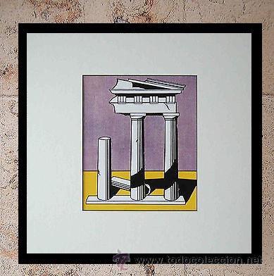 GRAN SERIGRAFIA DE ROY LICHTENSTEIN TEMPLE II 1965 EDICION LIMITADA 1000 UND. MARCO INCLUIDO (Arte - Serigrafías )