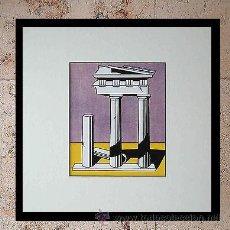 Arte: GRAN SERIGRAFIA DE ROY LICHTENSTEIN TEMPLE II 1965 EDICION LIMITADA 1000 UND. MARCO INCLUIDO. Lote 43732922