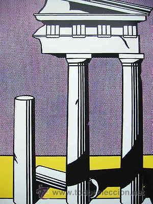 Arte: GRAN SERIGRAFIA DE ROY LICHTENSTEIN TEMPLE II 1965 EDICION LIMITADA 1000 UND. MARCO INCLUIDO - Foto 2 - 43732922