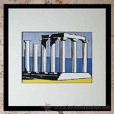 Arte: GRAN SERIGRAFIA DE ROY LICHTENSTEIN TEMPLE OF APOLLO 1964 EDICION LIMITADA 1000 UND. MARCO INCLUIDO. Lote 43732972