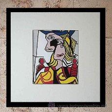 Arte: GRAN SERIGRAFIA ROY LICHTENSTEIN WOMAN WITH FLOWERED HAT 1963 ENMARCADA EDICION LIMITADA 1000 UND.. Lote 53992323