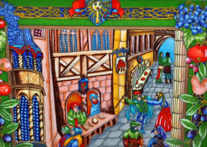 Arte: CONJUNTO DE 3 PORCELANAS SERIGRAFIADAS DE TEMA INDIO. FIRMADAS Y NUMERADAS - Foto 3 - 44427176