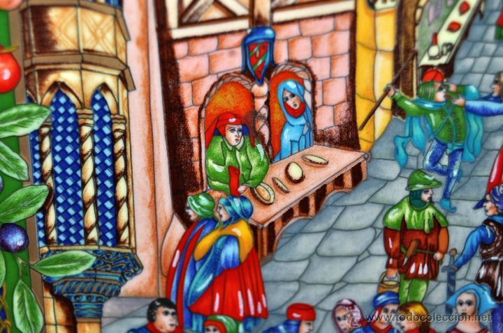 Arte: CONJUNTO DE 3 PORCELANAS SERIGRAFIADAS DE TEMA INDIO. FIRMADAS Y NUMERADAS - Foto 4 - 44427176