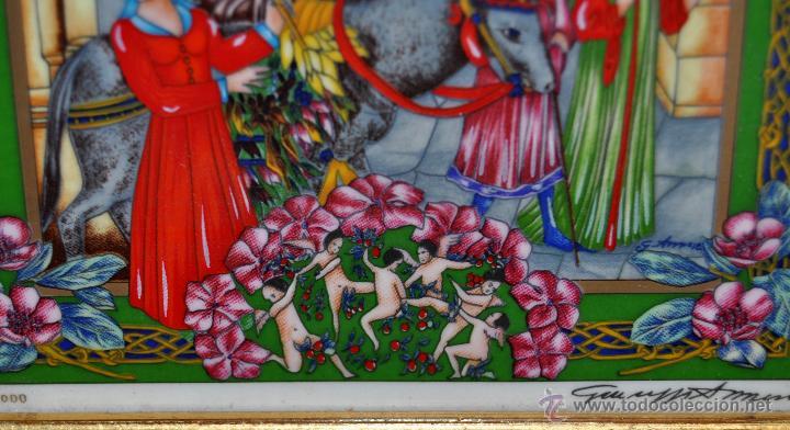 Arte: CONJUNTO DE 3 PORCELANAS SERIGRAFIADAS DE TEMA INDIO. FIRMADAS Y NUMERADAS - Foto 9 - 44427176