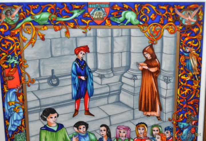 Arte: CONJUNTO DE 3 PORCELANAS SERIGRAFIADAS DE TEMA INDIO. FIRMADAS Y NUMERADAS - Foto 11 - 44427176