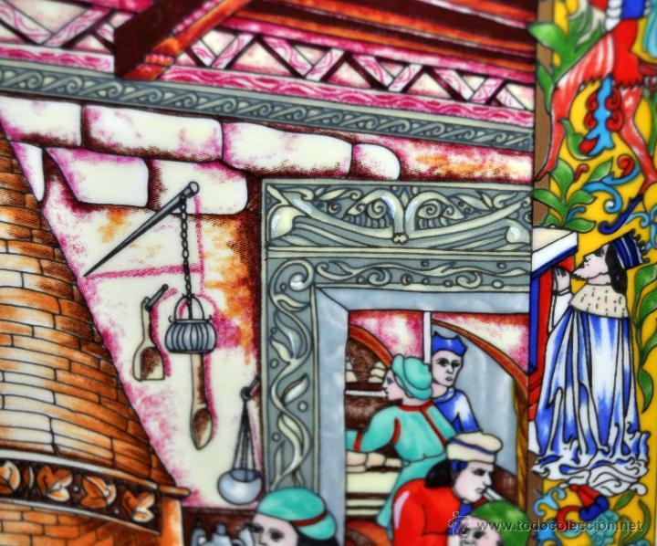Arte: CONJUNTO DE 3 PORCELANAS SERIGRAFIADAS DE TEMA INDIO. FIRMADAS Y NUMERADAS - Foto 12 - 44427176