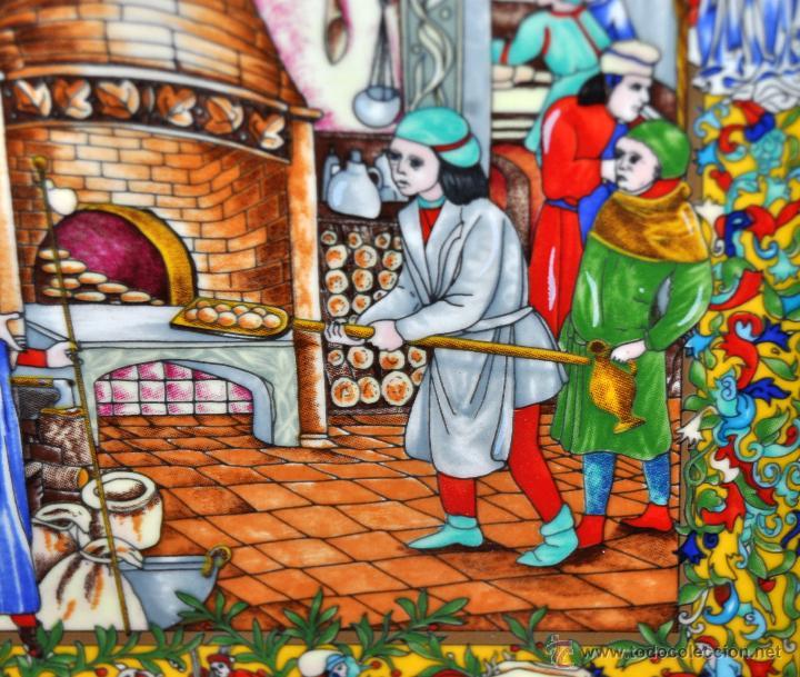 Arte: CONJUNTO DE 3 PORCELANAS SERIGRAFIADAS DE TEMA INDIO. FIRMADAS Y NUMERADAS - Foto 13 - 44427176