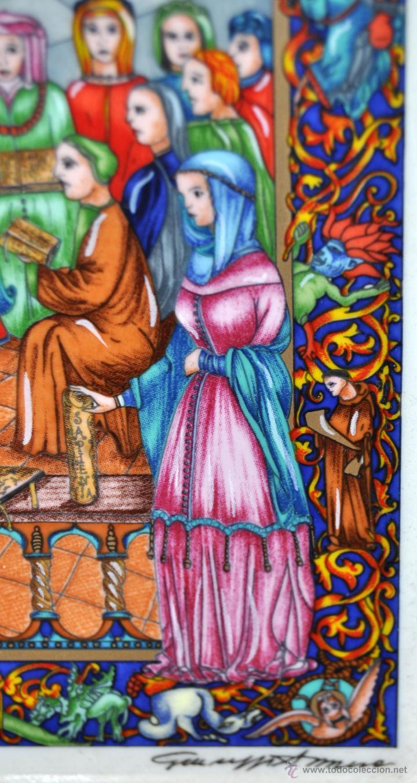 Arte: CONJUNTO DE 3 PORCELANAS SERIGRAFIADAS DE TEMA INDIO. FIRMADAS Y NUMERADAS - Foto 14 - 44427176