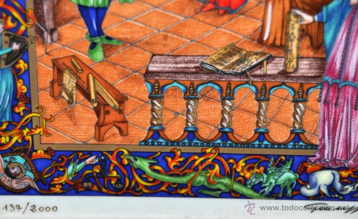 Arte: CONJUNTO DE 3 PORCELANAS SERIGRAFIADAS DE TEMA INDIO. FIRMADAS Y NUMERADAS - Foto 15 - 44427176