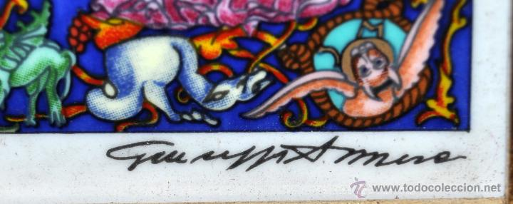 Arte: CONJUNTO DE 3 PORCELANAS SERIGRAFIADAS DE TEMA INDIO. FIRMADAS Y NUMERADAS - Foto 17 - 44427176