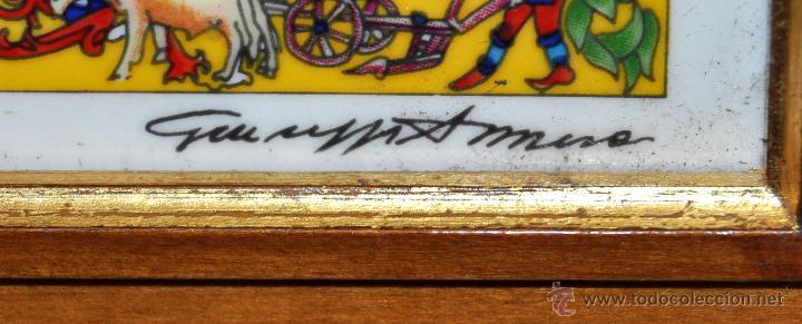 Arte: CONJUNTO DE 3 PORCELANAS SERIGRAFIADAS DE TEMA INDIO. FIRMADAS Y NUMERADAS - Foto 22 - 44427176