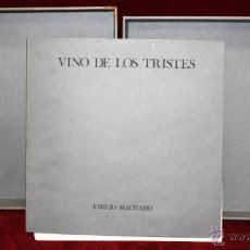 Arte: VINO DE LOS TRISTES CON 32 SERIGRAFIAS DE EMILIO MACHADO (LA PALMA, 1936) DE BIBLIOFILO. ED.LIMITADA. Lote 45056162
