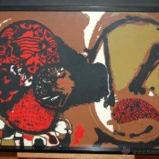 Arte: JOSEP GUINOVART BERTRÁN (BARCELONA, 1927-2007) SERIGRAFIA ORIGINAL FIRMADA POR ARTISTA. TIRAJE 12/75. Lote 45834655
