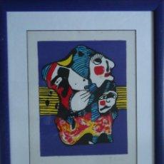 Arte: GALICIA.PONTEVEDRA.SERIGRAFIA DE MERCEDES RUIBAL 35X27CM. Nº 29/125 ENMARCADA. Lote 46703737