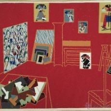Arte: MANOLO VALDÉS, SERIGRAFÍA DE GRAN TAMAÑO, TALLER ROJO, FIRMADA. Lote 46896111