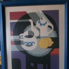 Arte: JUAN ANTONIO ALDA SERIGRAFIA FIRMADA ALDA 1974 Y NUMERADA 13/200 ENMARCADO MEDIDA 85 X 65 CM. . Lote 47523333