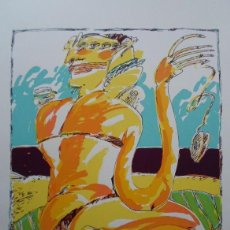 Arte: ANTONIO POSADA (VALLADOLID, 1952) SERIGRAFÍA 40X45 PAPEL 50X65CMS, FIRMADA A LÁPIZ Y NUMERA 20/150. Lote 48021041