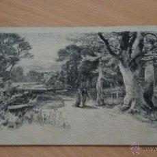 Arte: SEDA DE LOS JARDINES DE ARANJUEZ EN 1870. SERIE W 338. Lote 48595162