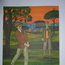 Arte: YSASI RICARDO ISASI OLASCOAGA (ALGORTA VIZCAIA 1917) SERIGRAFÍA GOLF 51X36 PAPEL 70X50CMS FIRMA /150. Lote 194778446