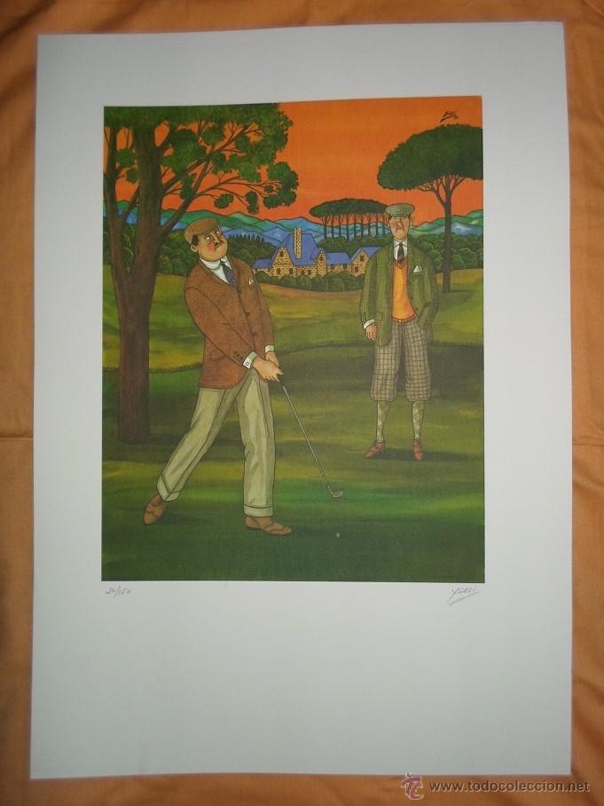 Arte: YSASI Ricardo Isasi Olascoaga (Algorta Vizcaia 1917) serigrafía golf 51x36 papel 70x50cms firma /150 - Foto 2 - 194778446