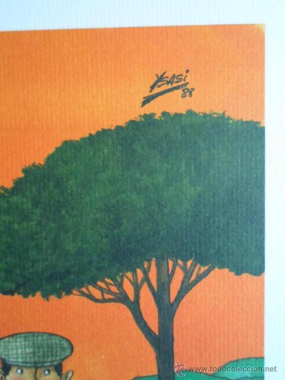 Arte: YSASI Ricardo Isasi Olascoaga (Algorta Vizcaia 1917) serigrafía golf 51x36 papel 70x50cms firma /150 - Foto 3 - 194778446
