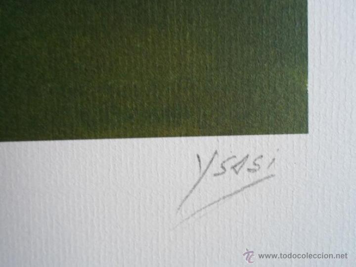 Arte: YSASI Ricardo Isasi Olascoaga (Algorta Vizcaia 1917) serigrafía golf 51x36 papel 70x50cms firma /150 - Foto 4 - 194778446