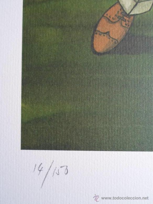 Arte: YSASI Ricardo Isasi Olascoaga (Algorta Vizcaia 1917) serigrafía golf 51x36 papel 70x50cms firma /150 - Foto 5 - 194778446